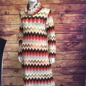 Missoni Multi Colored Chevron Patterned Dress